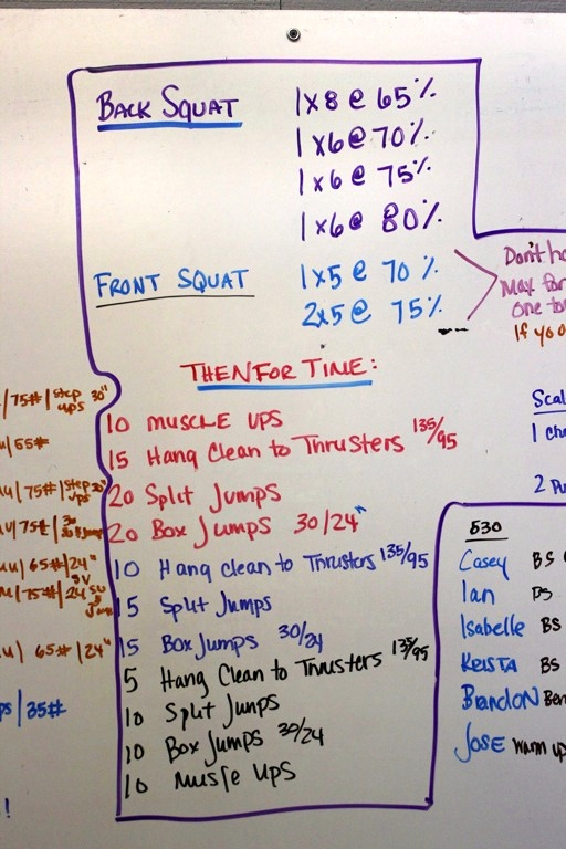 WOD Whiteboard: 5/13/2014