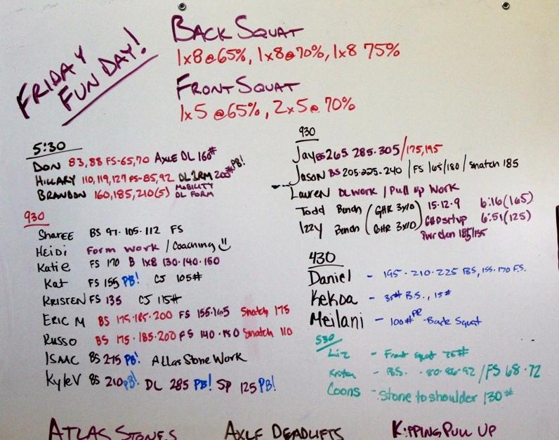WOD Whiteboard: 5/9/2014