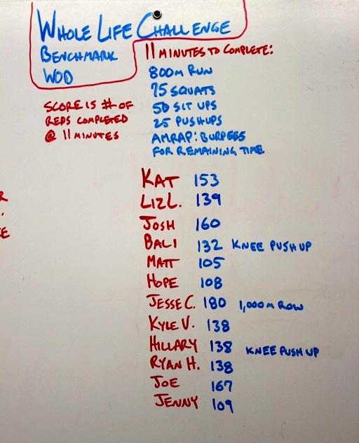 WOD Whiteboard: 5/4/2014 (Whole Life Challenge WOD)