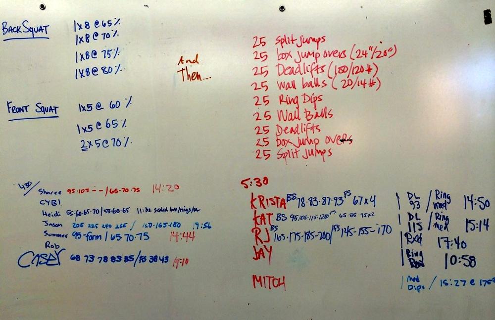 WOD Whiteboard: 5/30/2014