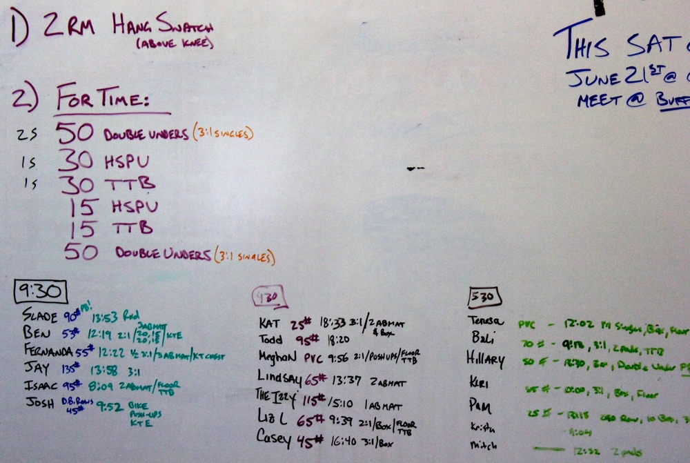 WOD Whiteboard: 6/18/2014