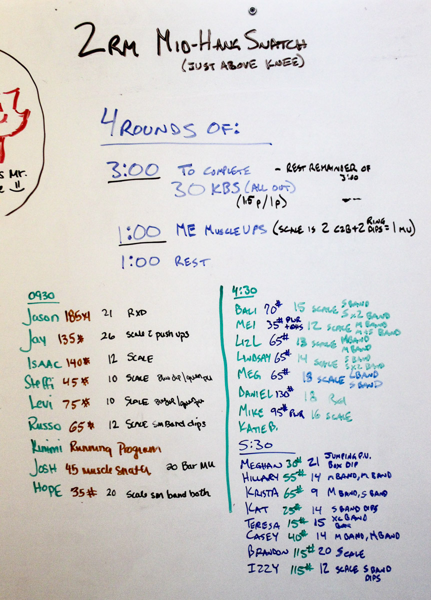 WOD Whiteboard: 07/01/2014