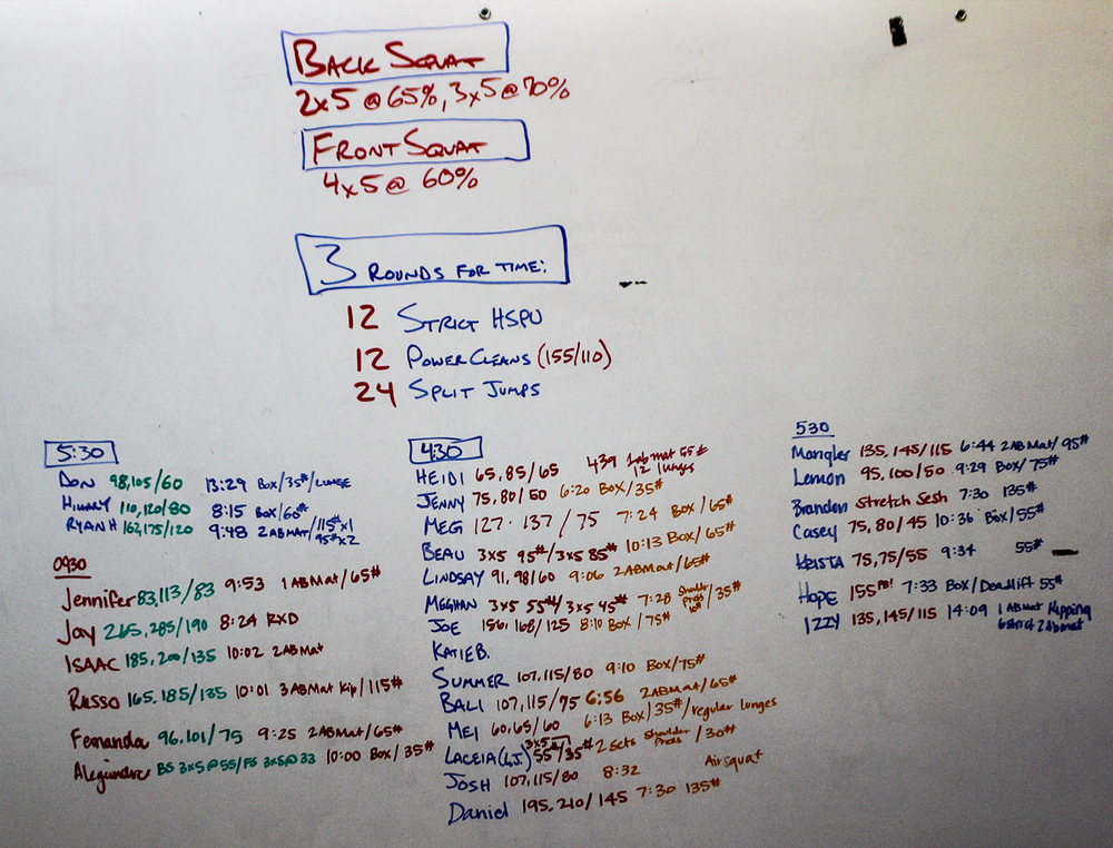 WOD Whiteboard: 07/02/2014