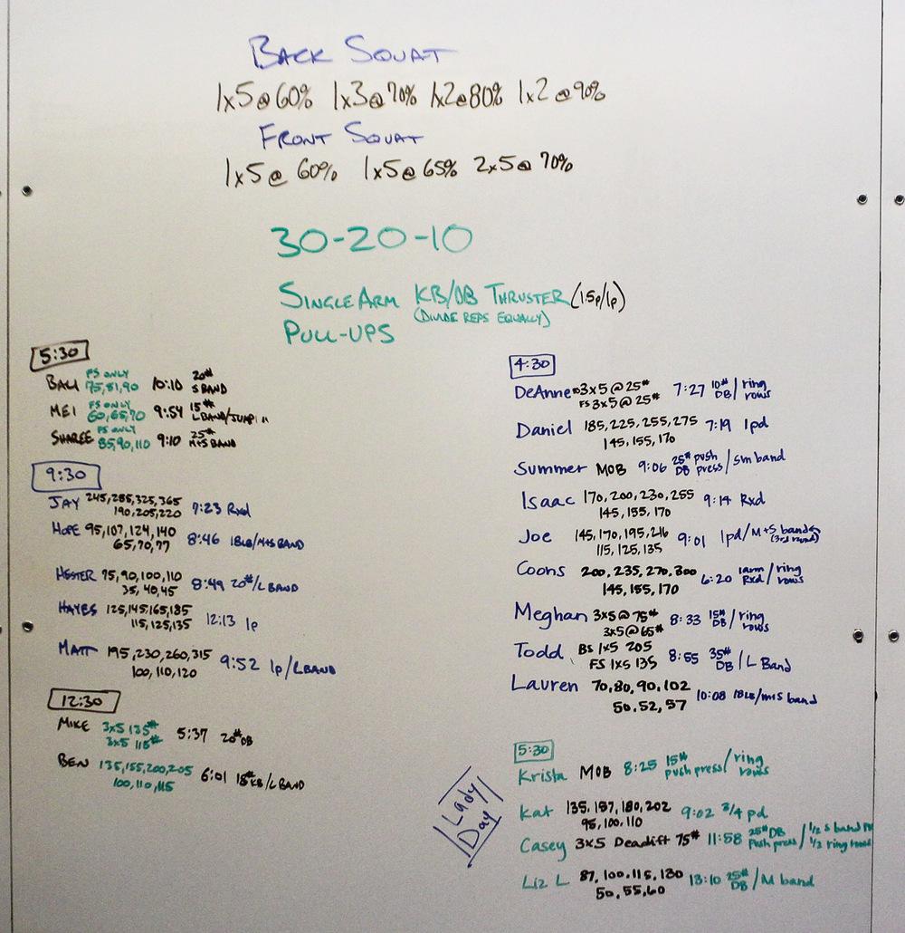 WOD Whiteboard: 07/15/2014