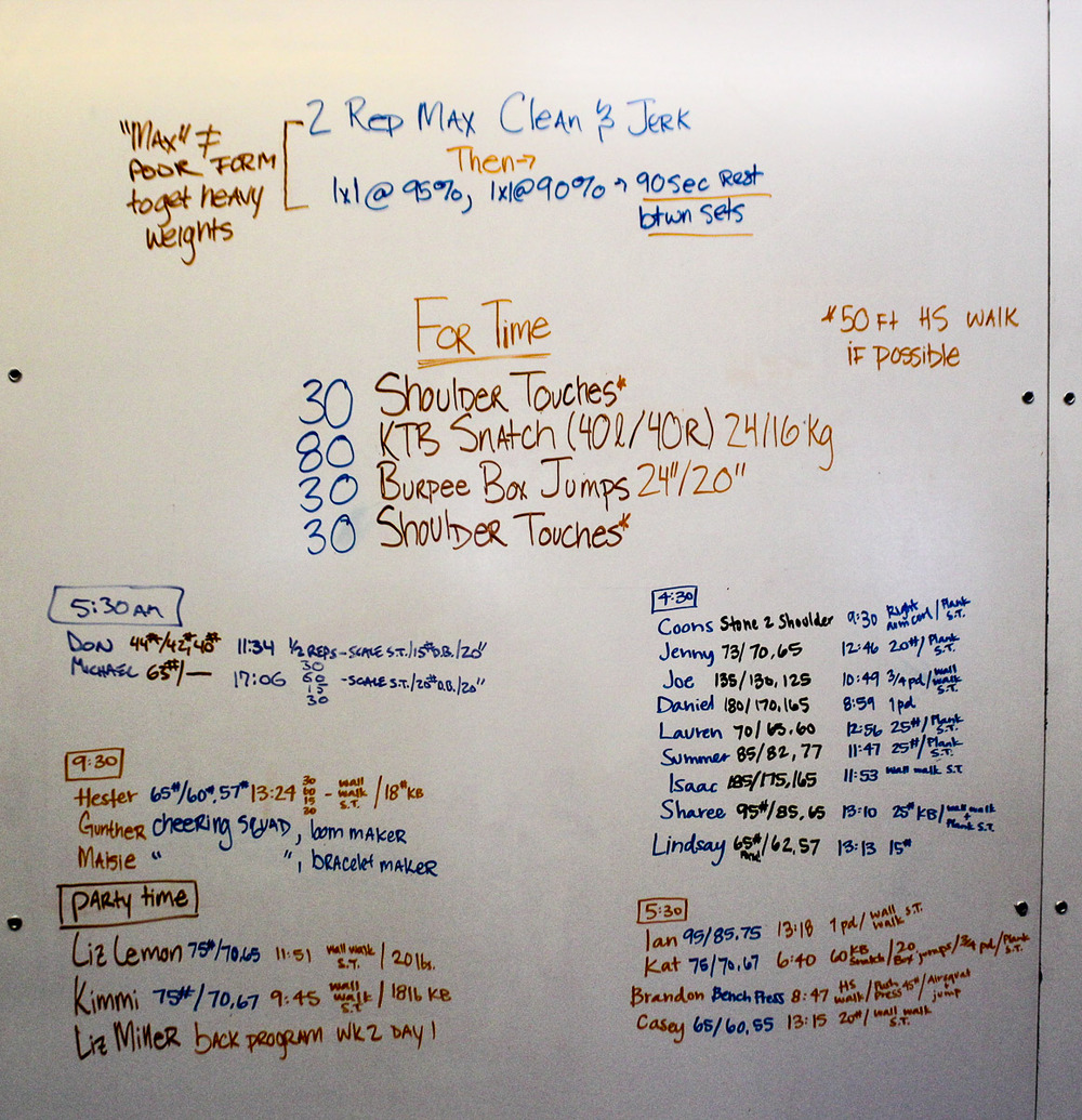 WOD Whiteboard: 07/28/2014