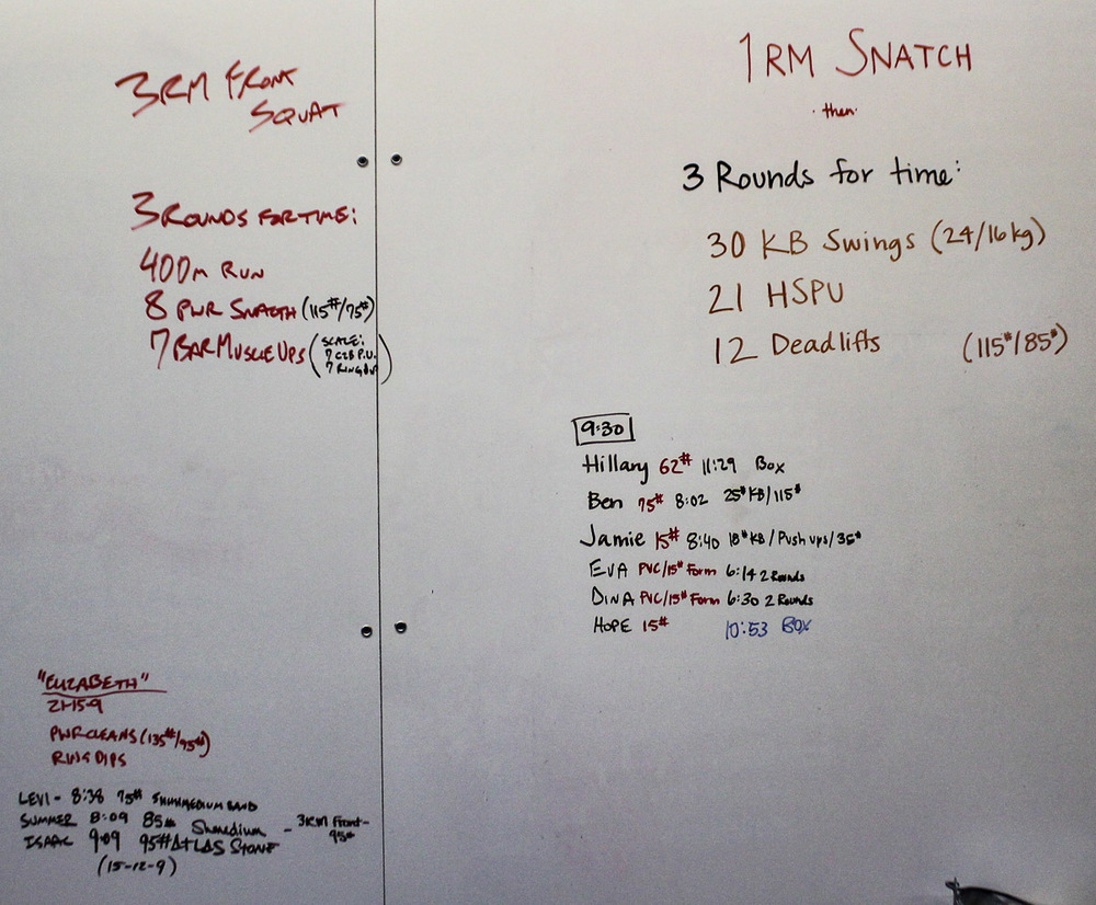 WOD Whiteboard: 08/03/2014