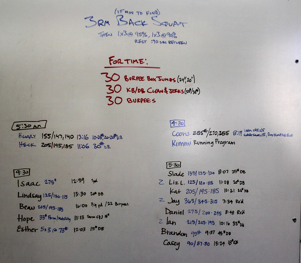 WOD Whiteboard: 08/05/2014