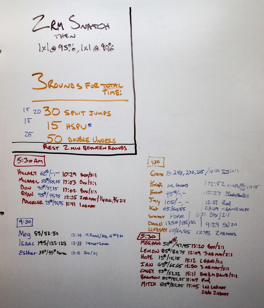 WOD Whiteboard: 08/06/2014