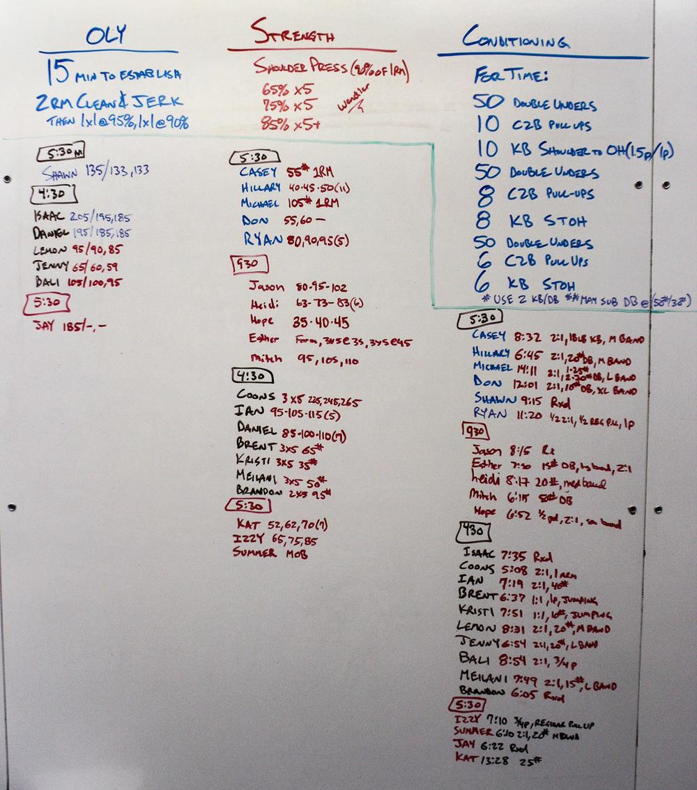 WOD Whiteboard: 08/11/2014