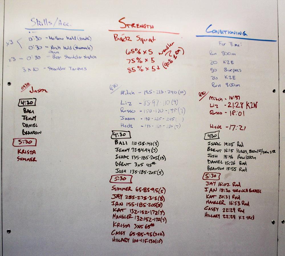 WOD Whiteboard: 08/12/2014