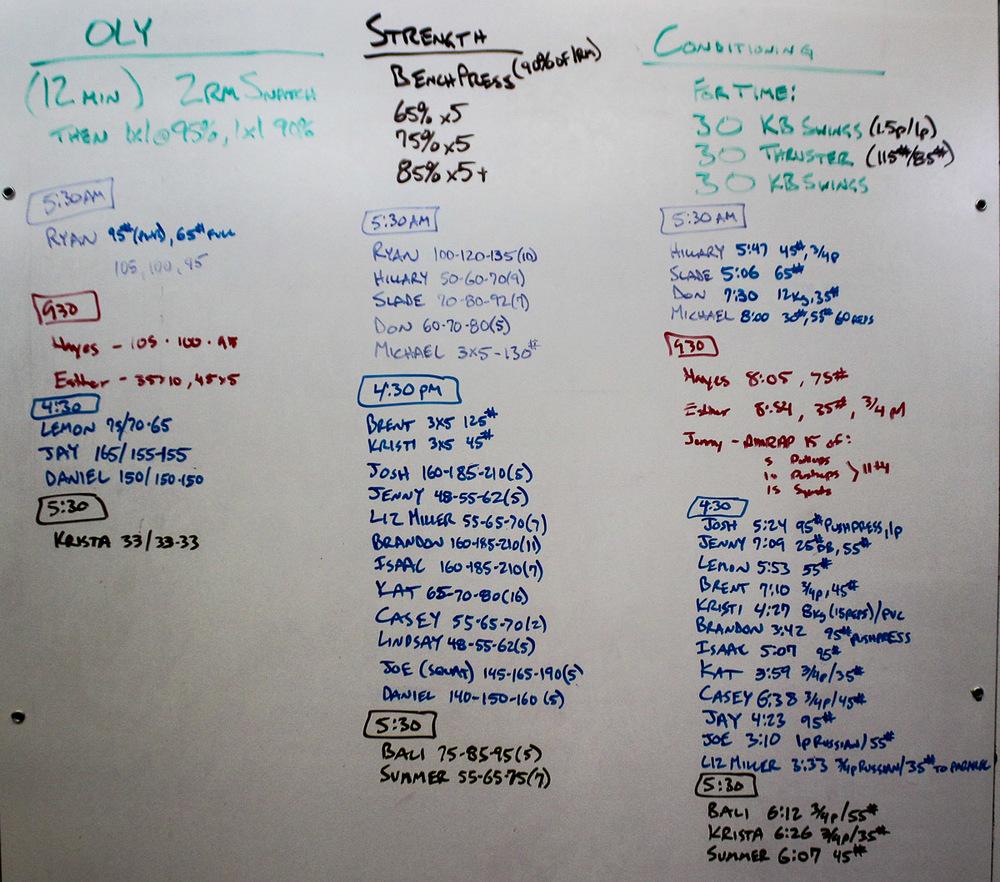 WOD Whiteboard: 08/13/2014