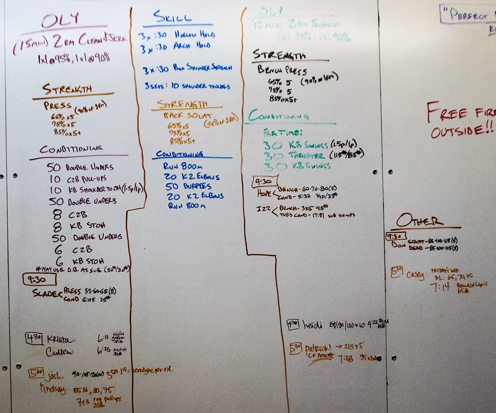 WOD Whiteboard: 08/14/2014