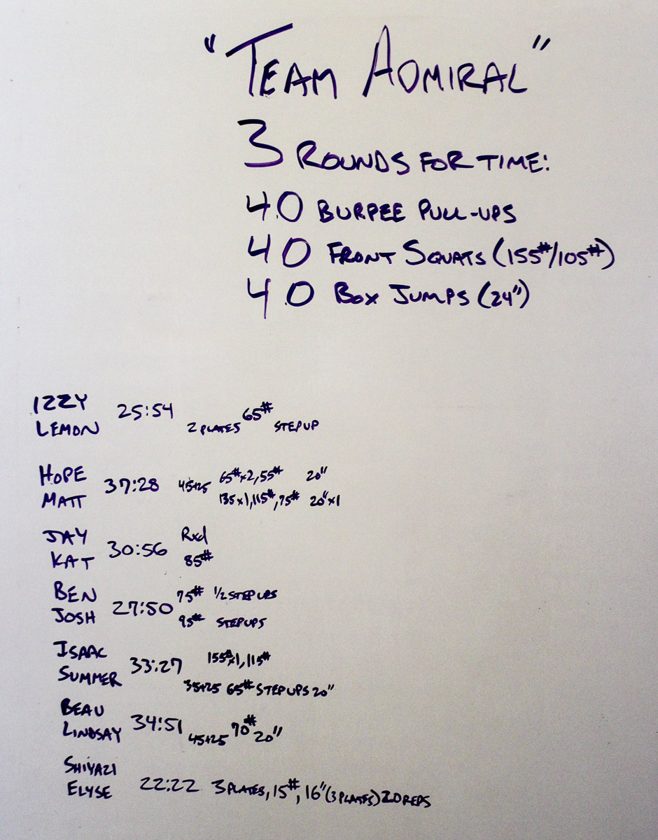 WOD Whiteboard: 08/16/2014