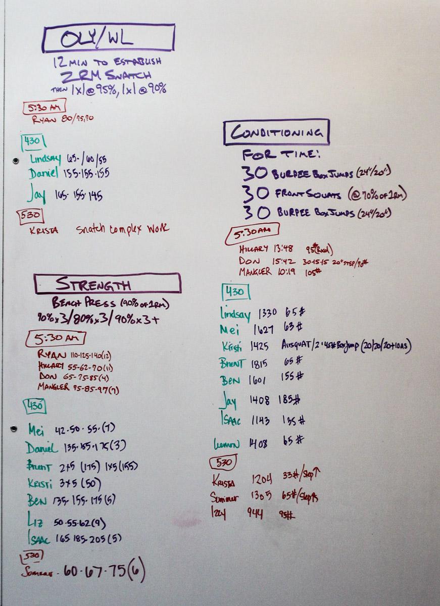 WOD Whiteboard: 08/20/2014