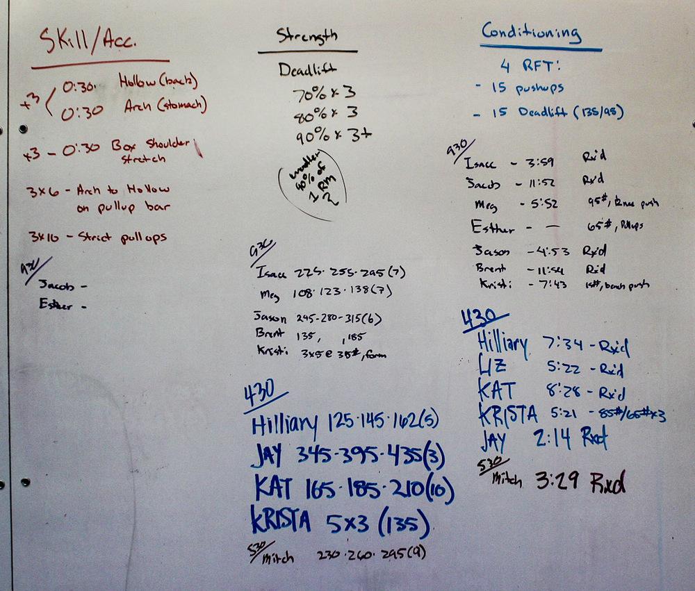 WOD Whiteboard: 08/22/2014