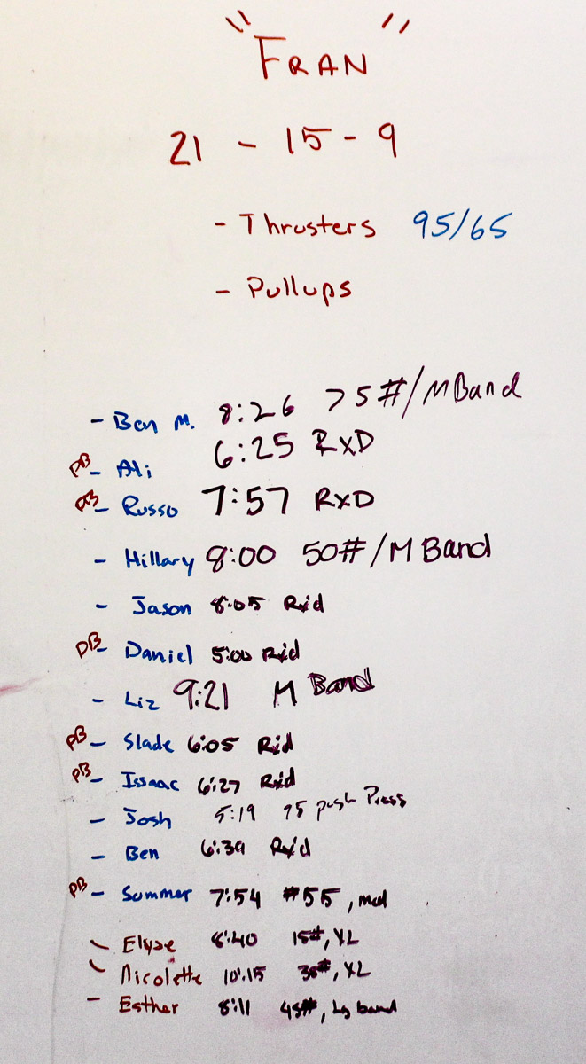 WOD Whiteboard: 08/23/2014