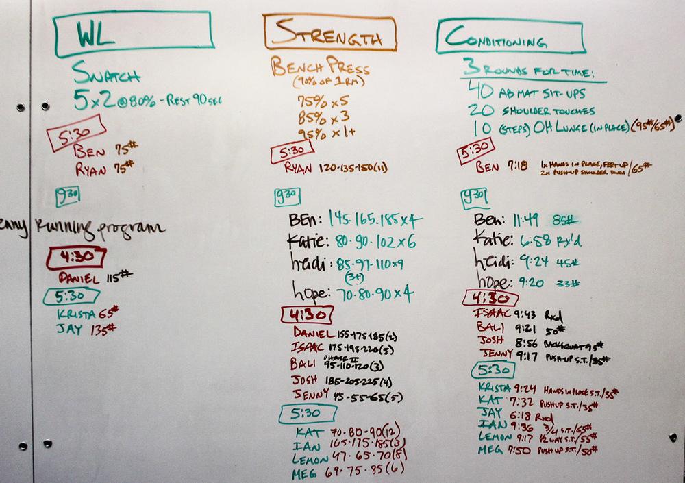 WOD Whiteboard: 08/27/2014