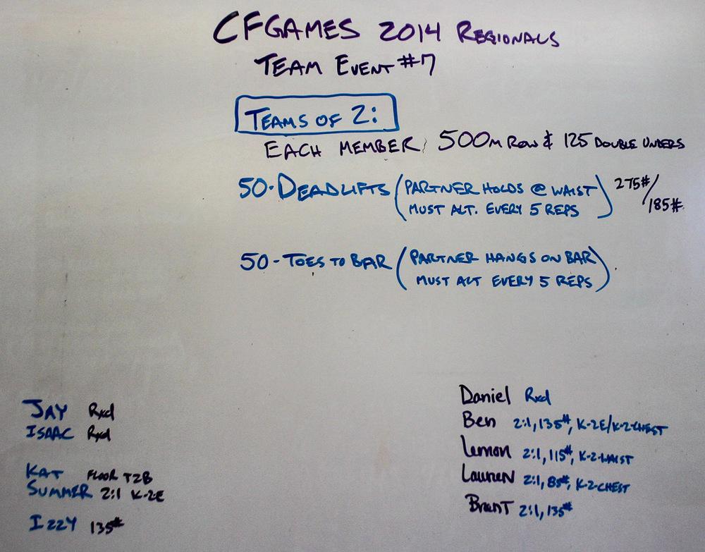 WOD Whiteboard: 08/30/2014