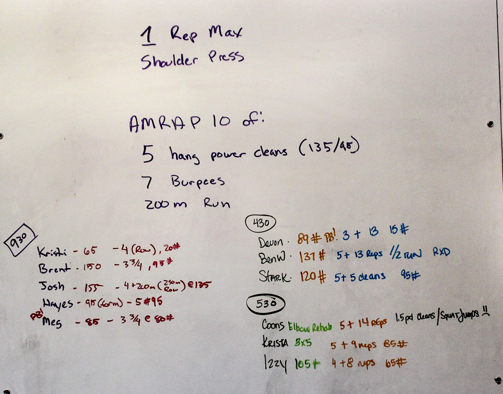 WOD Whiteboard: 09/05/2014