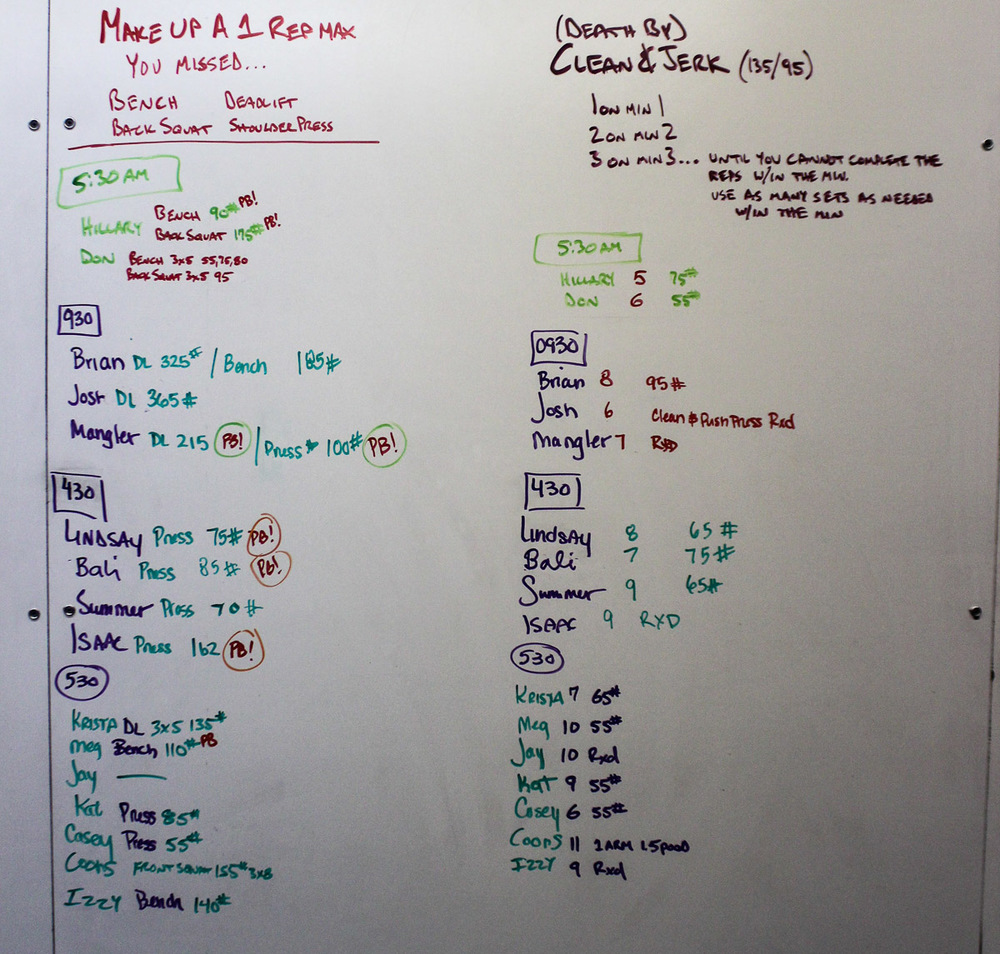 WOD Whiteboard: 09/10/2014