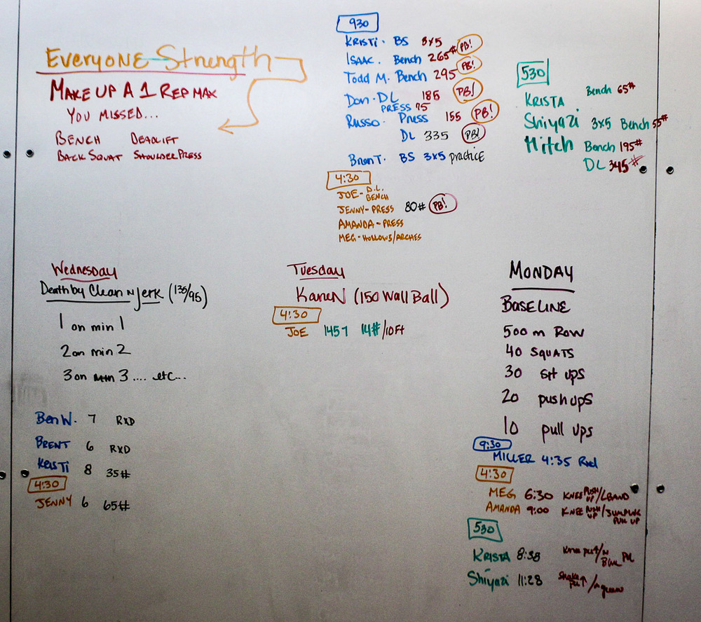 WOD Whiteboard: 09/11/2014