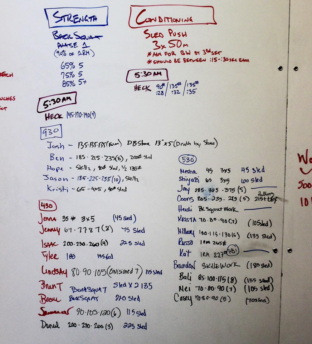 WOD Whiteboard: 09/16/2014