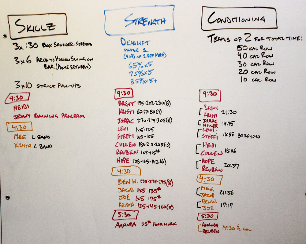WOD Whiteboard: 09/19/2014