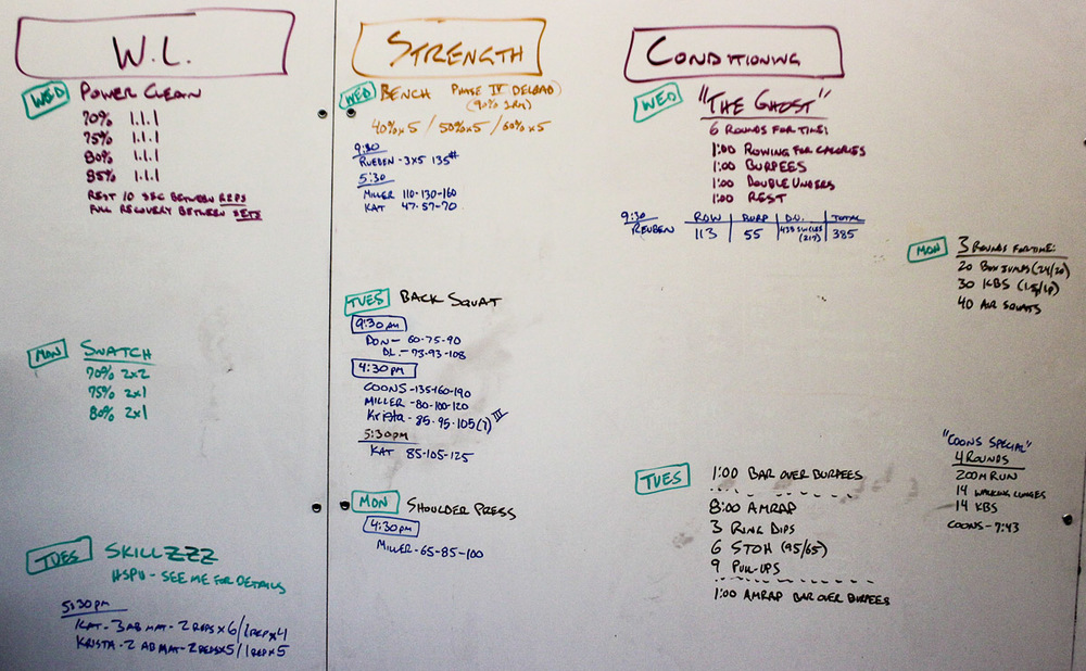 WOD Whiteboard: 10/09/2014