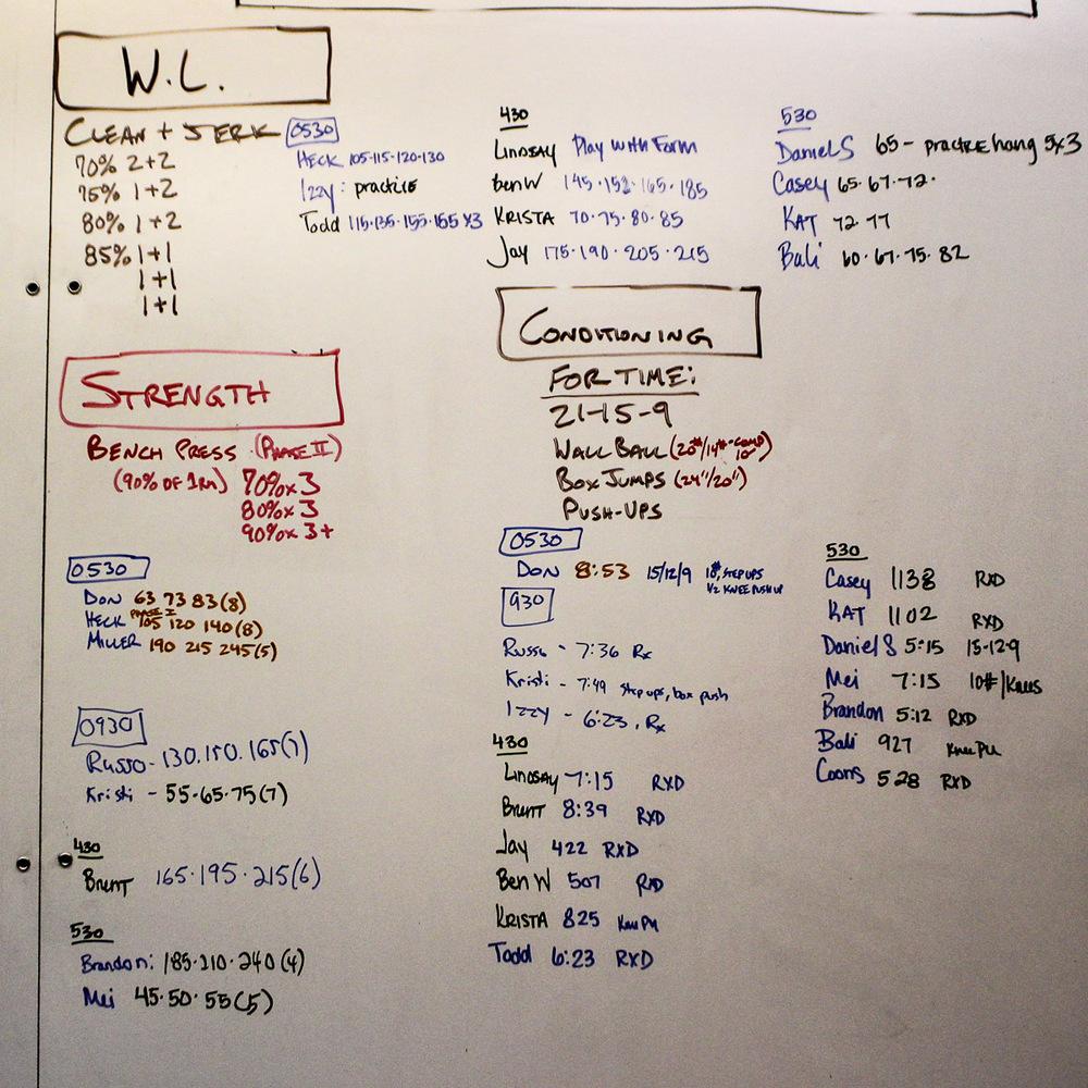 WOD Whiteboard: 10/22/2014