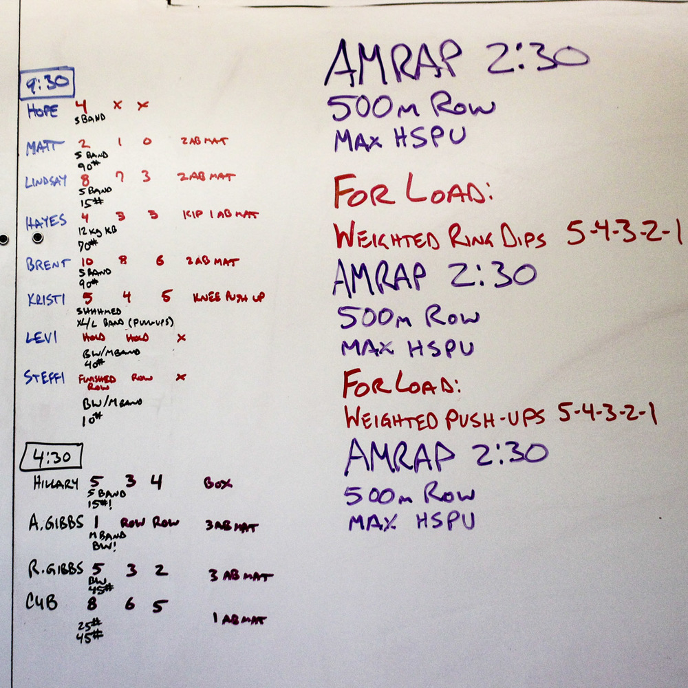 WOD Whiteboard: 11/07/2014
