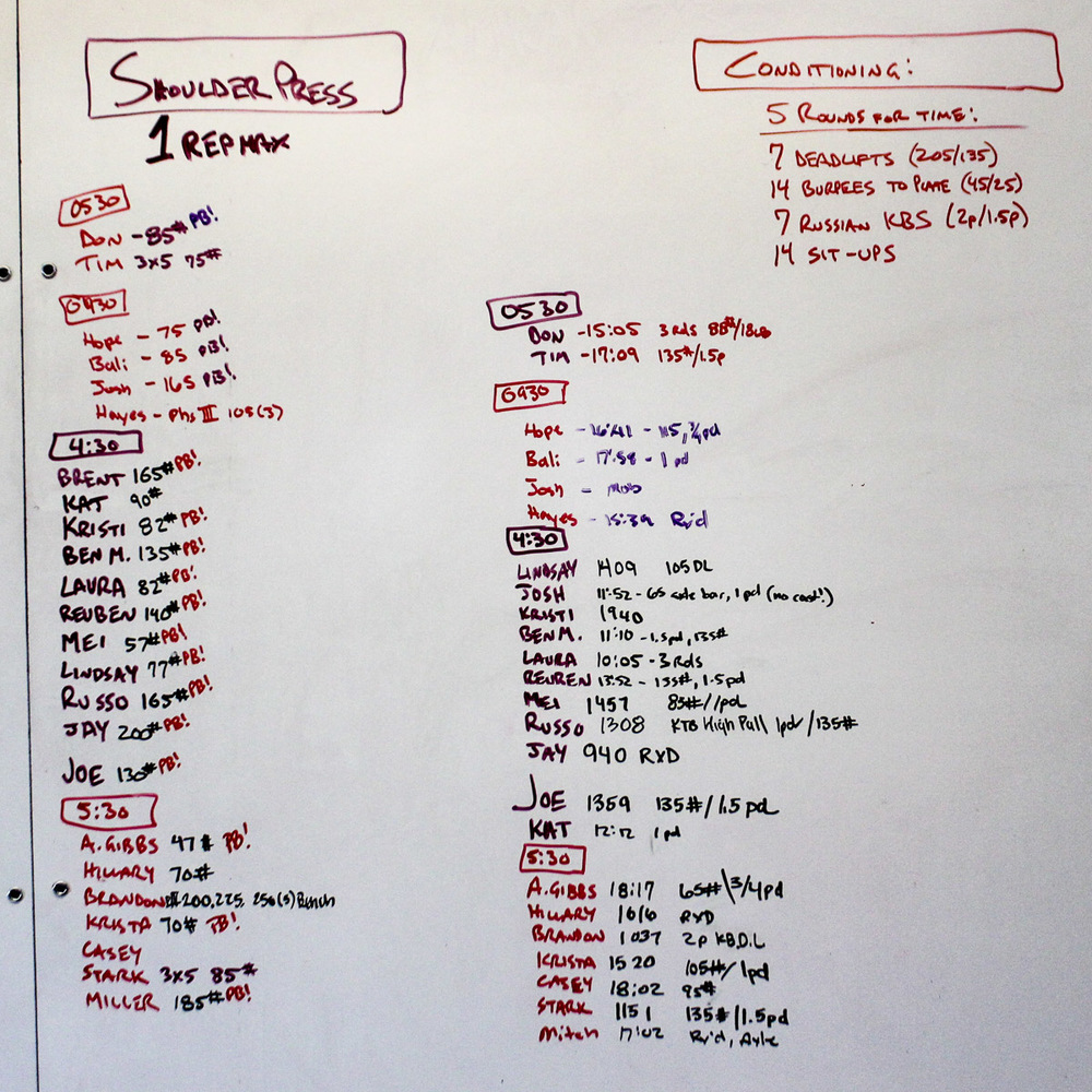 WOD Whiteboard: 11/10/2014