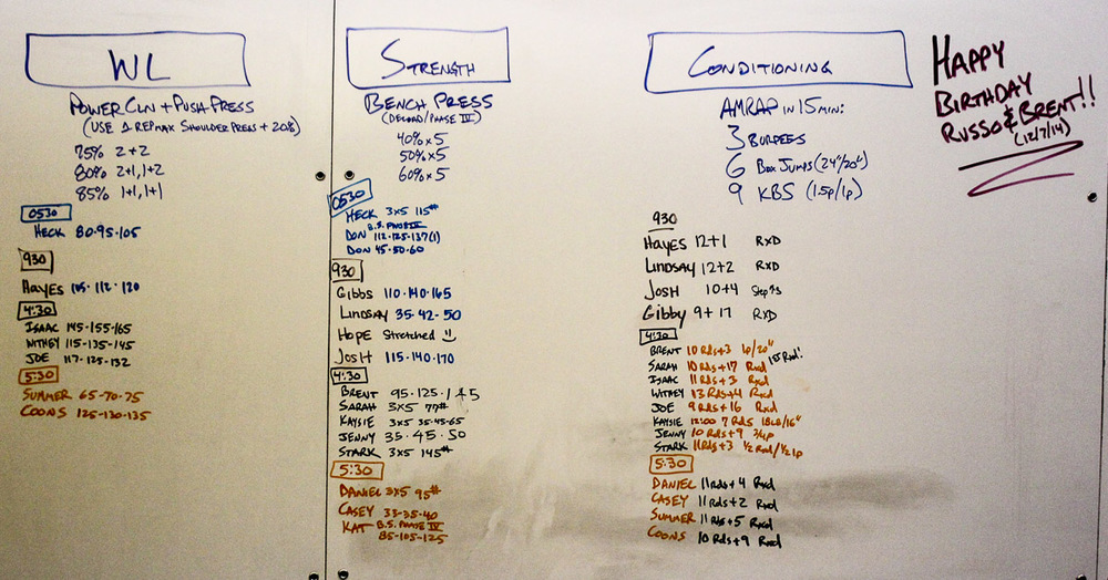 WOD Whiteboard: 12/08/2014