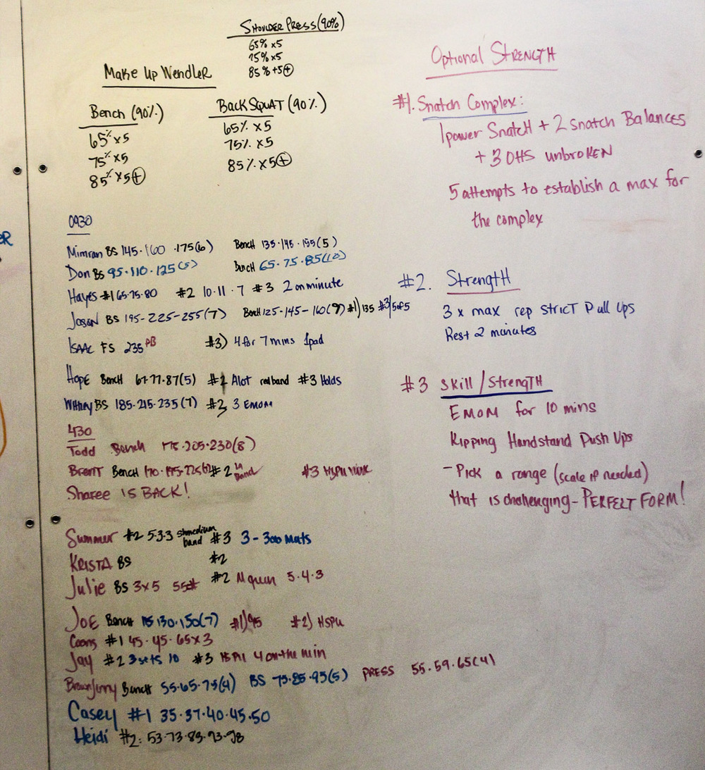 WOD Whiteboard: 01/08/2015