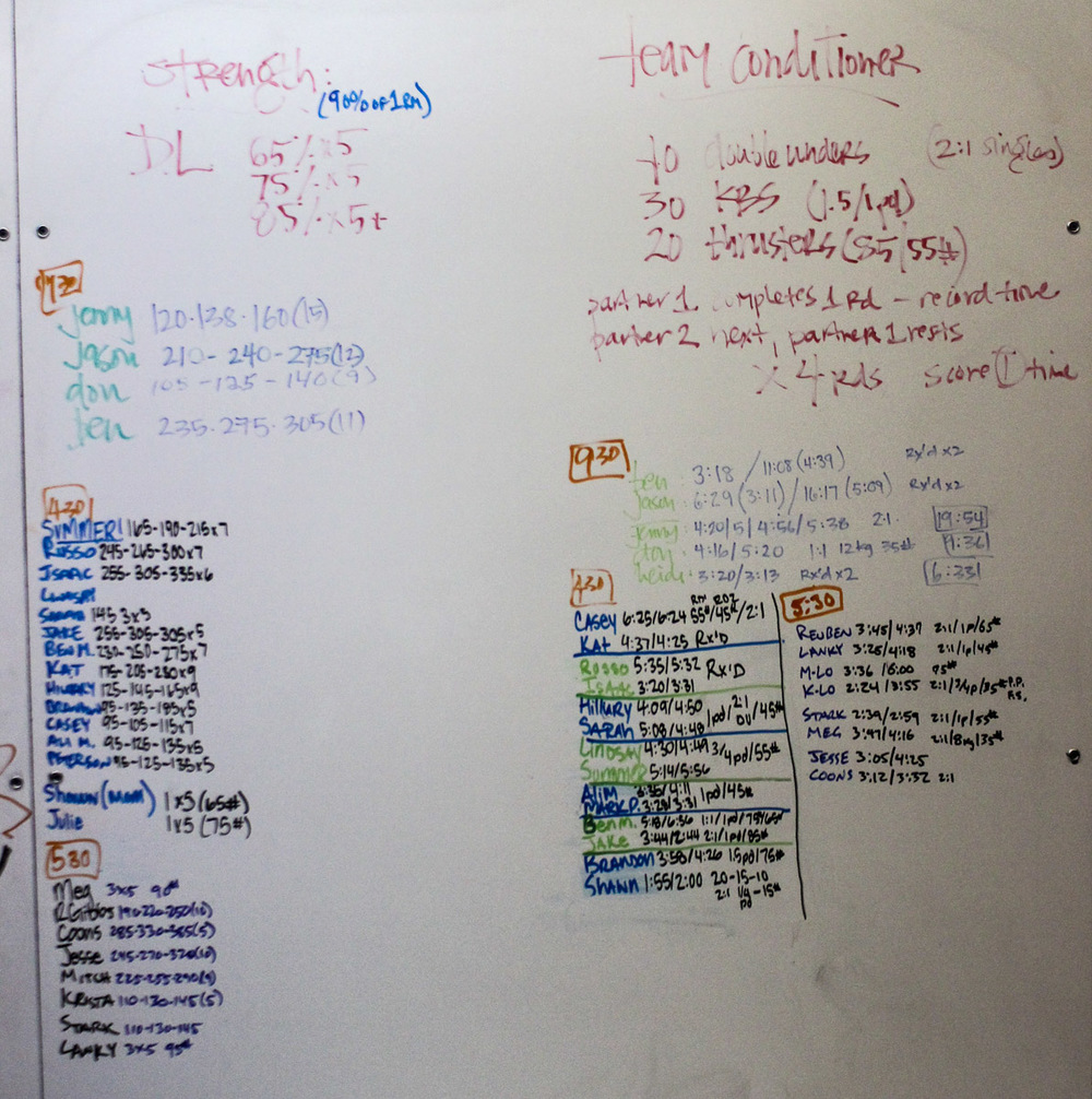 WOD Whiteboard: 01/09/2015