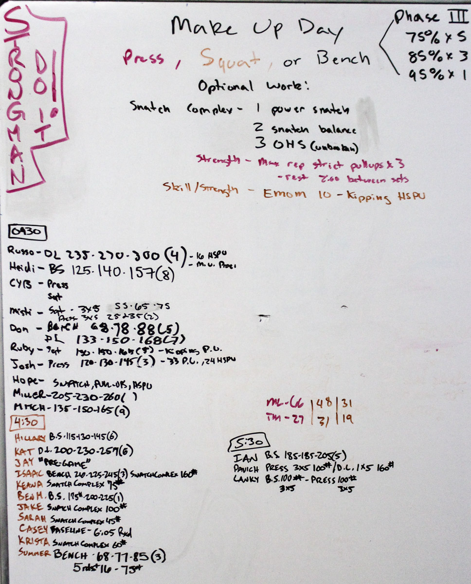WOD Whiteboard: 01/22/2015