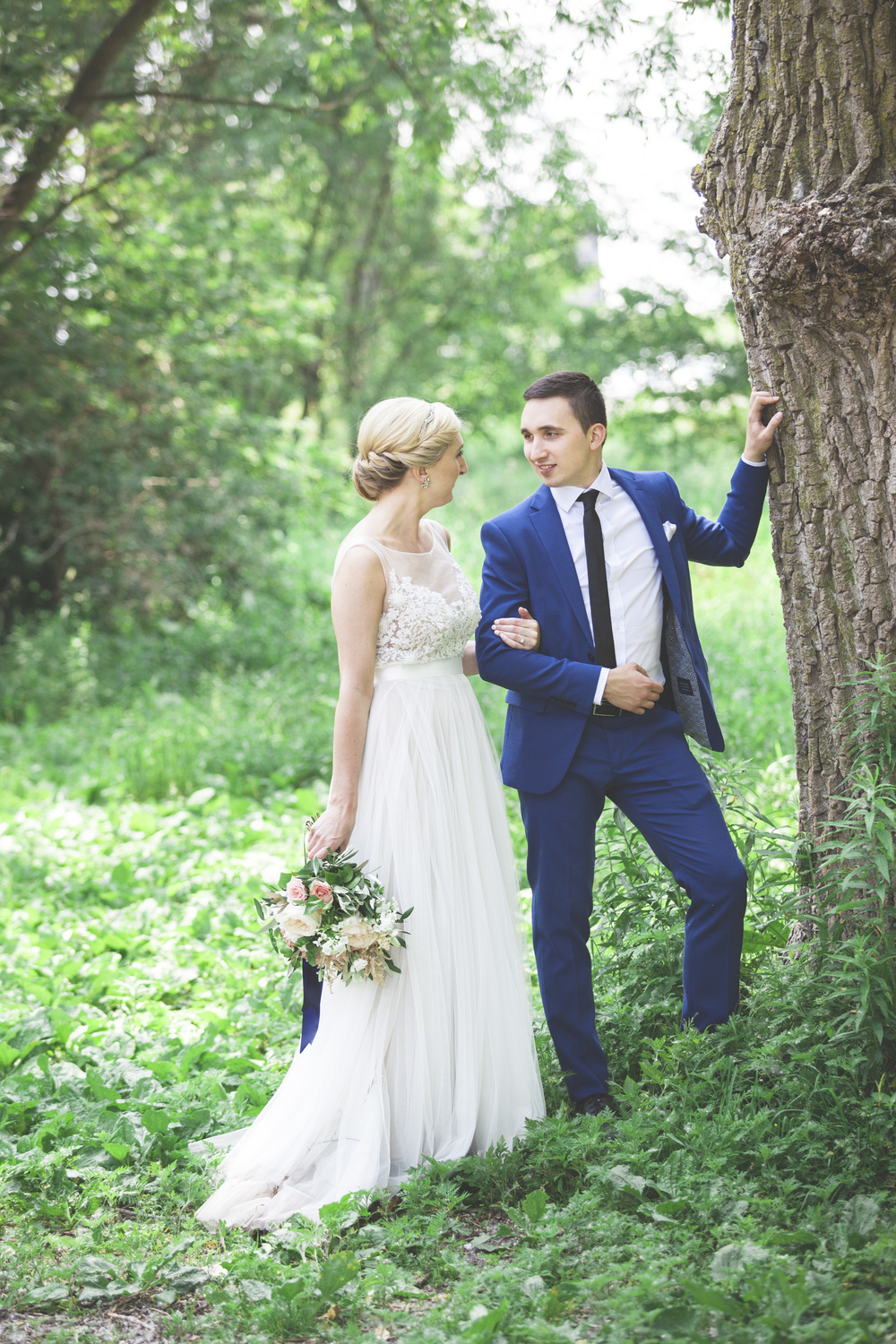 The small woodland at Cherry Beach makes a great setting for wedding photography.