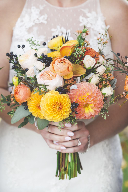 A gorgeous wedding boquet.