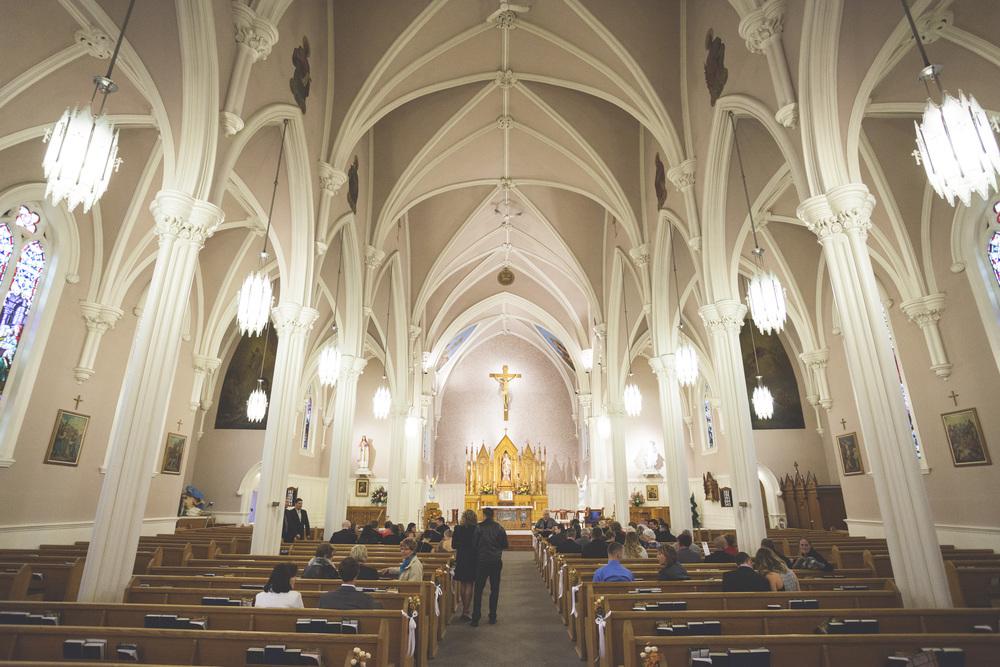 Inside St. Basil Church in Brantford Ontario.