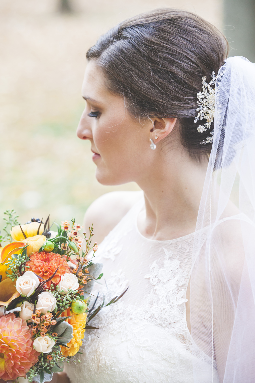Bridal details.