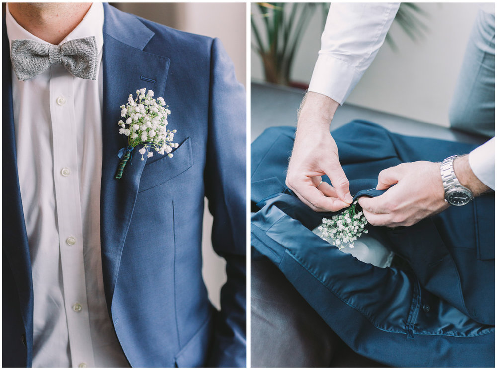 Details from groom's suit.