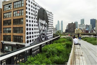 "The NYC High Line.  He's squinting because he's like ""Ooooh I hope you're not thinking you can replicate this?!"""