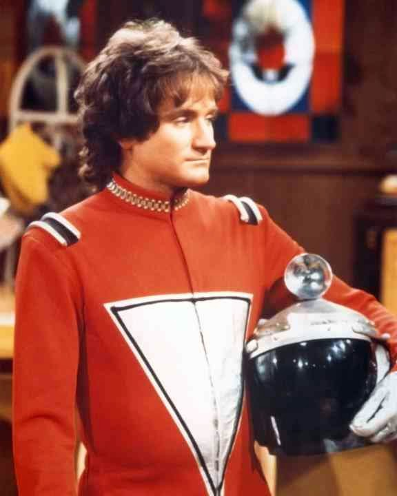 "Robin Williams as Mork in ""Mork and Mindy.""  They'll never be another one like you Robin."