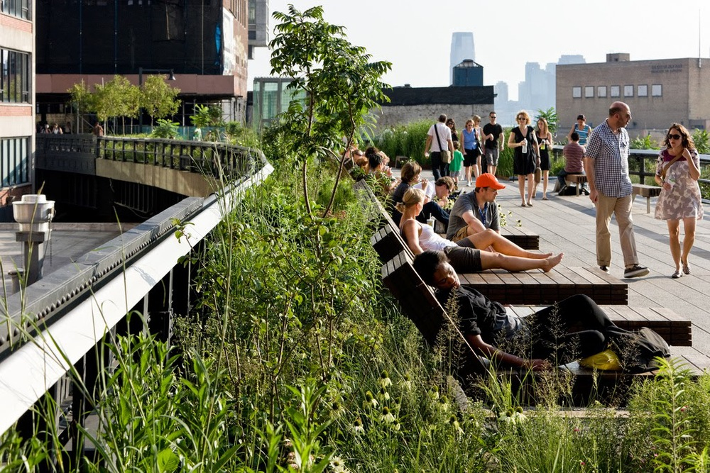 This is what the High Line looks like now