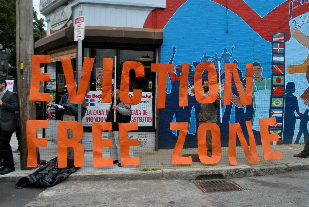 Latino Business Owners fight business tenant evictions in the Jamaica Plain neighborhood in Boston.