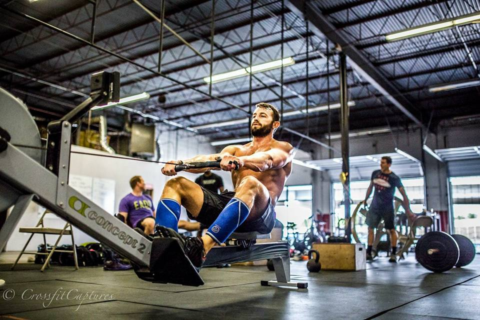 EaDo Elite athlete and two time regional competitor Dallas Henson on a recent rowing WOD   Photo Credit:  Sierra Prime