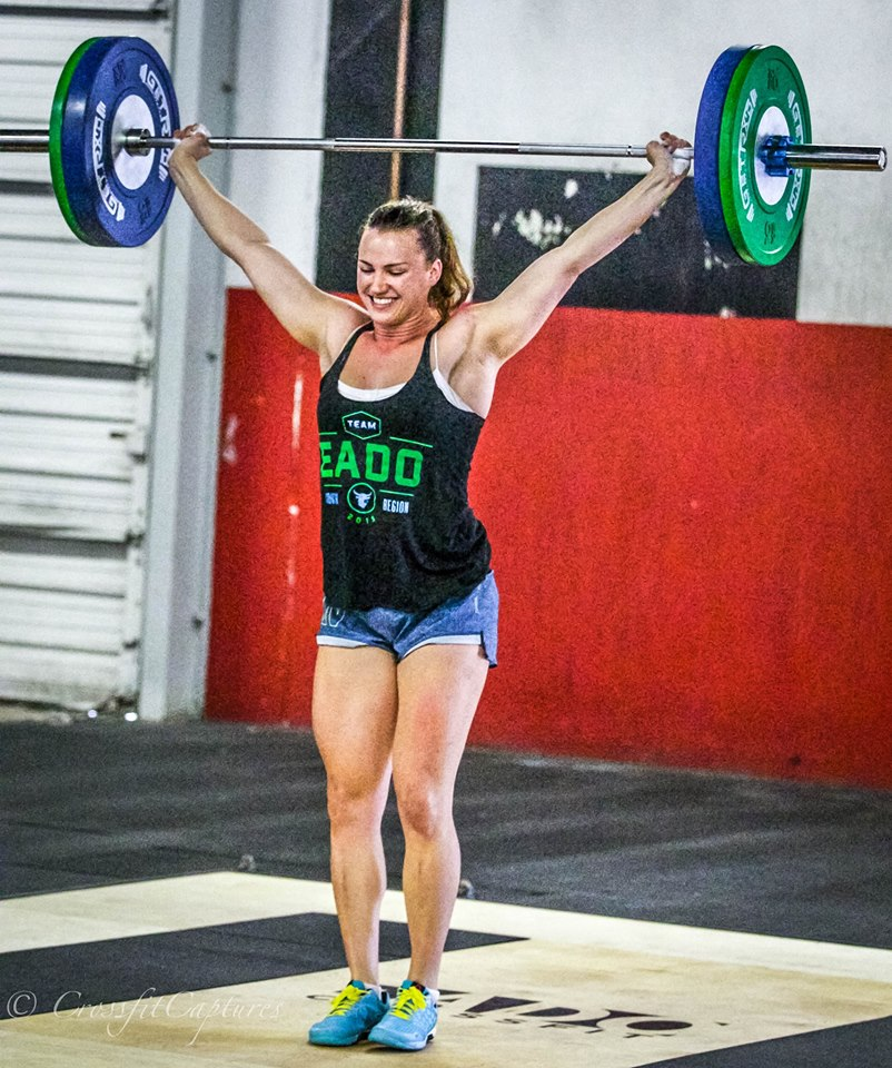 EaDo Elite Athlete Camzin hitting a 165# Snatch     Photo Credit: Sierra Prime