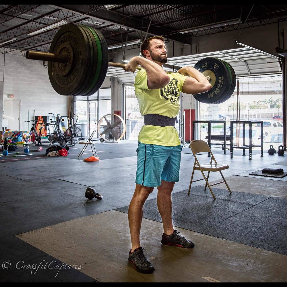 EaDo Elite Athlete Dallas Henson establishing a new push press max   Photo Credit: Sierra Prime