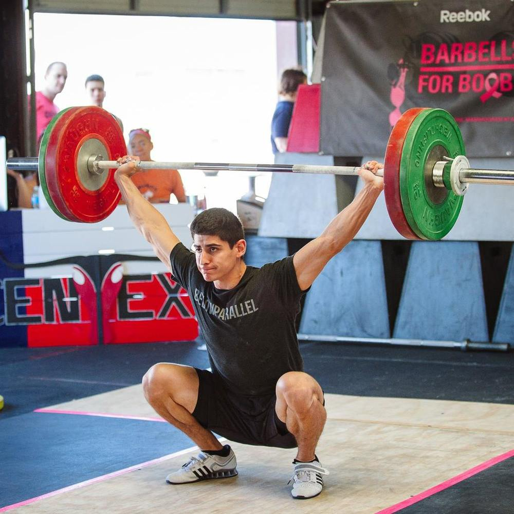 EaDo Elite athlete Victor Sanchez in action in a recent Oly meet