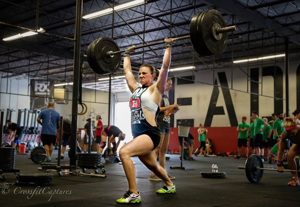 EaDo Elite athlete Camzin Martin in a recent competition. Max Clean and Jerk