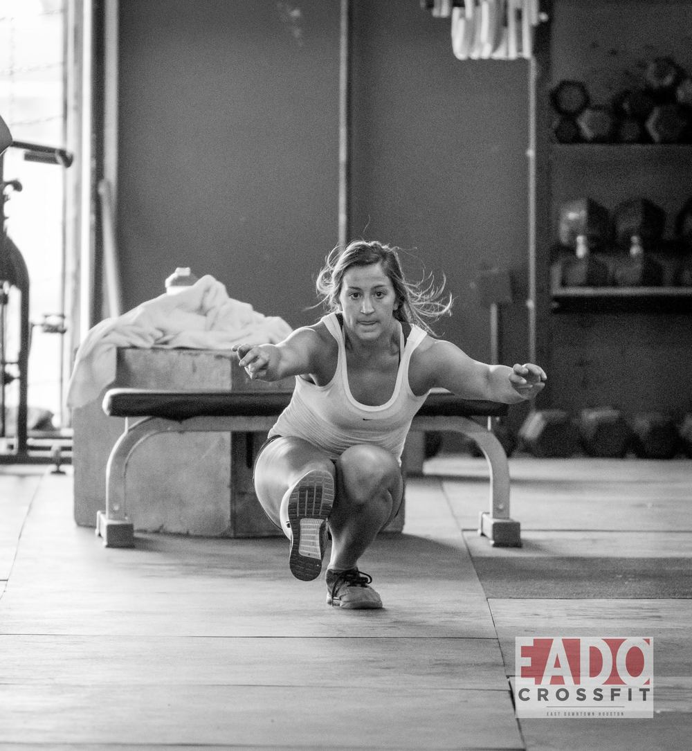 EaDo Elite Athlete Sara Fish during our sprint pistol squat skill work last week.   Photo Credit:  Sierra Prime